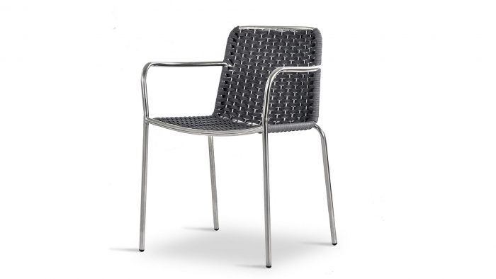 Palma Stainless Steel Armchair Low Back
